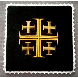 Chalice black pall - the Jerusalem Cross  (1)