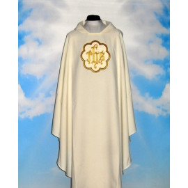 Chasuble with embroidered pattern (IHS-3)