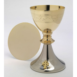 Chalice gold/silver-plated 20 cm (8)