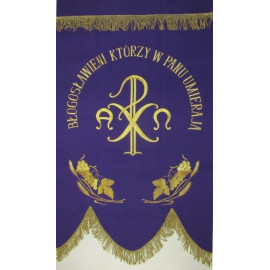 Funeral banner - Alpha and Omega