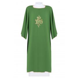 Embroidered dalmatics IHS - green (6)