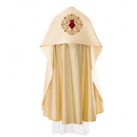 Embroidered liturgical veil - Heart of Jesus (21)