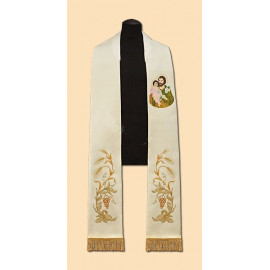Embroidered stole St. Josef (26)