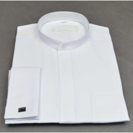 White shirt under cassock (clips) - small collar