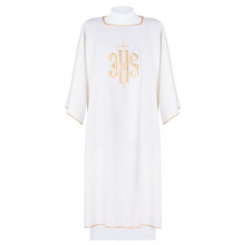 Dalmatics embroidered IHS - ecru (12)