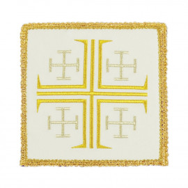 White embroidered pall - Jerusalem Cross