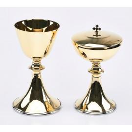 Set of chalice + ciborium (10)