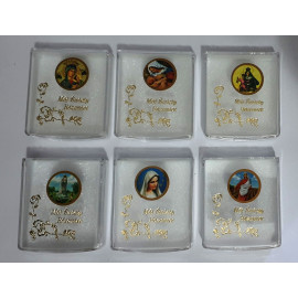Box for rosary with sticker - rectangle