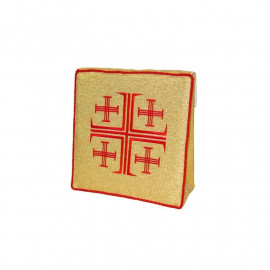 Burse to ailing - Jerusalem crosses, color gold (11)