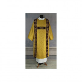Dalmatic for the deacon embroidered with gold - velvet stripes