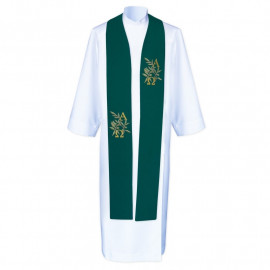 Alpha and Omega priest stole - embroidered (4)