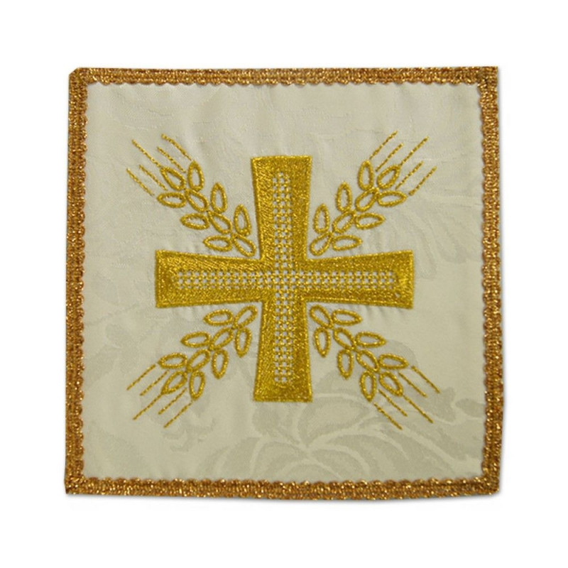 Ecru embroidered pall - Cross and ears