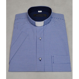 Slim clergy shirt - grenade grille