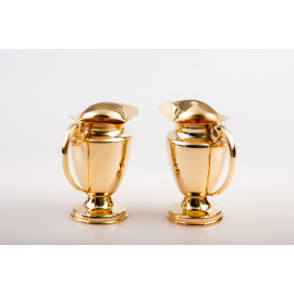Set of water and wine cruet - gold plated