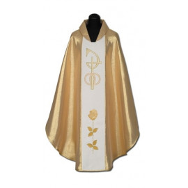 Gold embroidered wedding chasuble