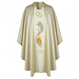 Gold embroidered wedding chasuble (A)