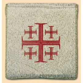 Burse to ailing - red Jerusalem cross , gold color (29)