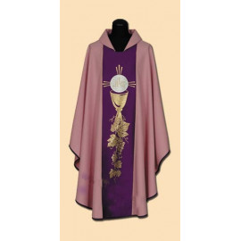 Pink embroidered chasuble (31A)