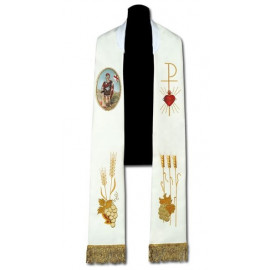 Stole with a painted icon of St. Florian (23)
