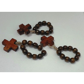 Dozen wooden rosary - dark brown