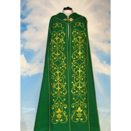 Green embroidered cope - ornament (4)