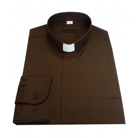 Clergy shirt - brown