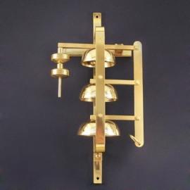 Triple brass sanctuary bell 42 cm high