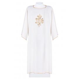 Dalmatics embroidered IHS - ecru (7)