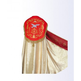 Gold cope with red IHS belt + stole