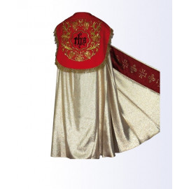 Gold cope with red belt + stole