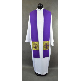 Violet stole with crosses