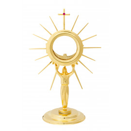 Gold plated monstrance 30 cm high (6)