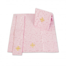 Burse Set, Manipulator and Veil for Chalice - pale pink