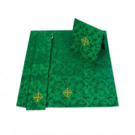 Set of Burse, maniple and chalice veil - green