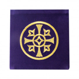 Velvet embroidered pall, purple - decorative embroidery