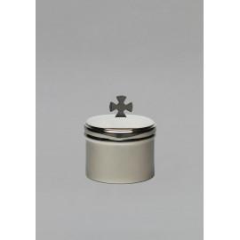 Brass ciborium, nickel-plated, unconsecrated
