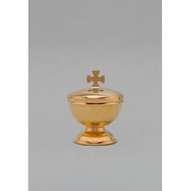 Vasculum brass, gold-plated, height 10 cm