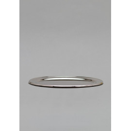 Brass, oval, nickel plated tray