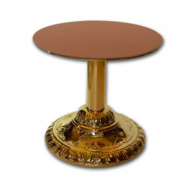 Monstrance brass stand, gold-plated