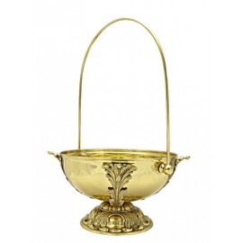 Brass pot, big for holy water - decorative