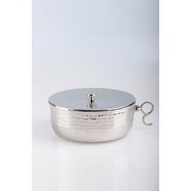 Ciborium for communion, silver-plated with closure - 7 cm