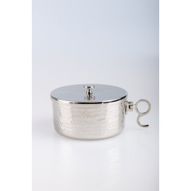 Ciborium, silver plated with closure - 6.5 cm