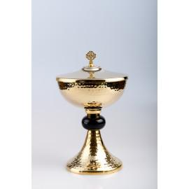 Ciborium, brass, gold plated - 24 cm (61)