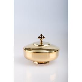 Ciborium, gold-plated with closure - 12.5 cm