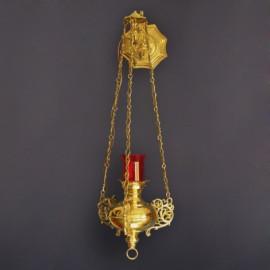 Brass sanctuary lamp, hanging