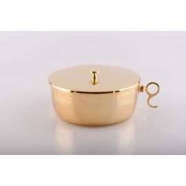 Ciborium, gold-plated with closure - 7 cm