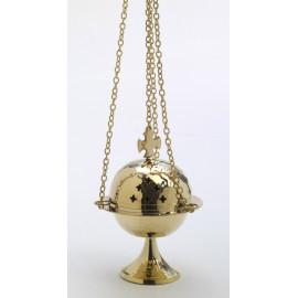 Brass thurible, gold colour - 15 cm