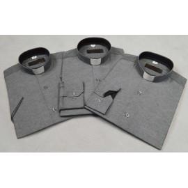 Clergy shirt - slim (tall), grey