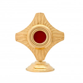 Brass reliquary, gold-plated - 15 cm