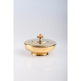Ciborium, gold-plated with closure - 6.5 cm